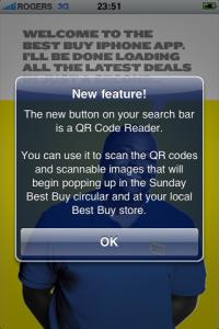 QR Code notice