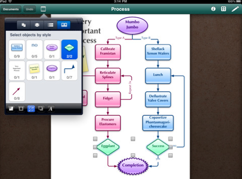 OmniGraffle iPad