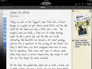 Journal entry example w tags and pics 300x225 MaxJournal: The Memory Keepers App