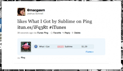 Turn off Ping auto tweets; Apple turns on iTun.es URL shortener