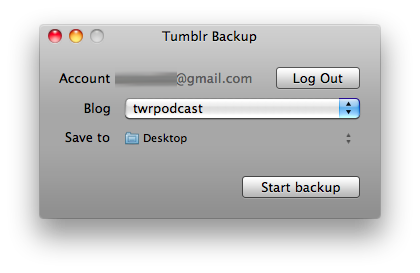Sick of Tumblr downtime? Backup your blog ASAP