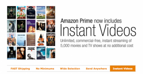 Amazon Prime offers free video streaming
