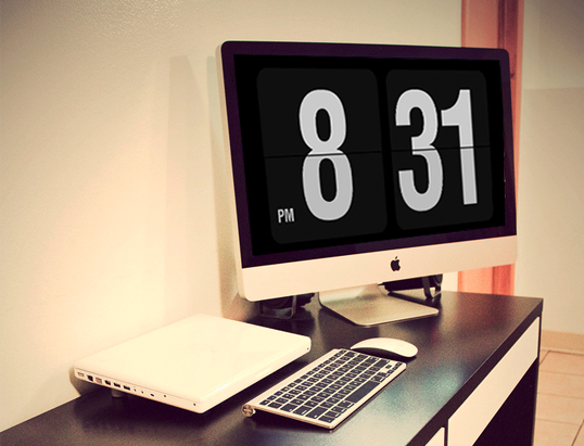Turn That Sexy Cinema Display Into A Giant Flip Clock