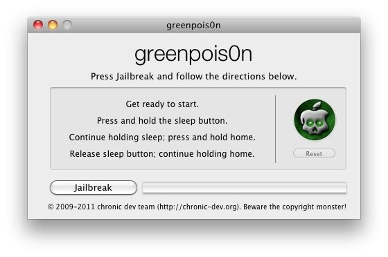 GreenPois0n untethered jailbreak for iOS 4.2.1 published