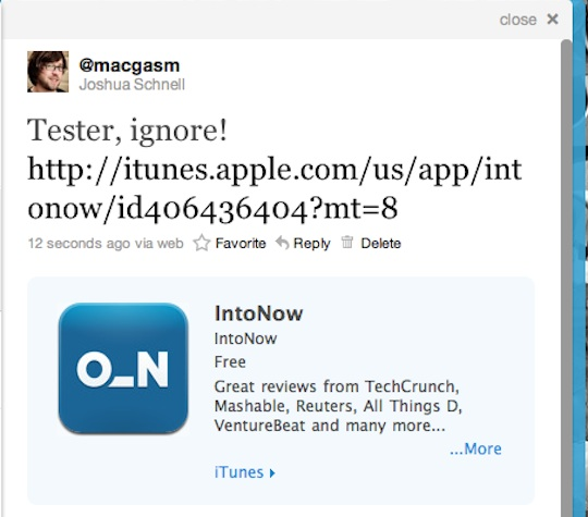 App Store apps come to Twitters website