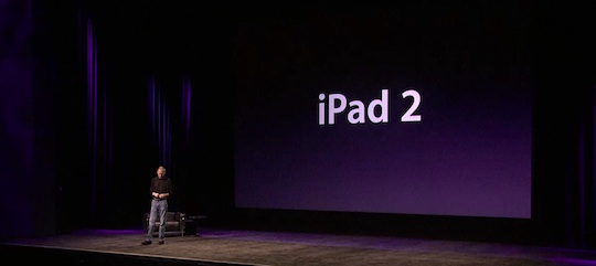 Jobs announces iPad 2