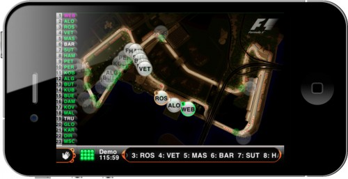 Keep track of F1 races with F1™ 2011 Timing App CP