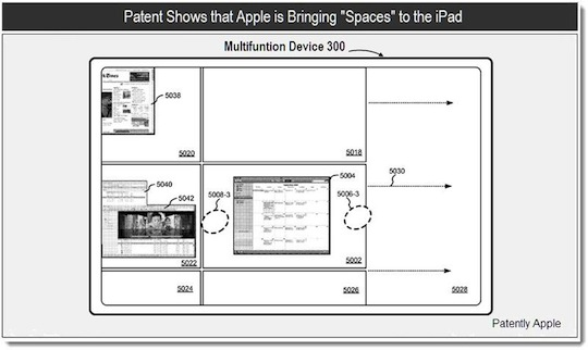 New Apple patent shows Spaces feature on an iPad