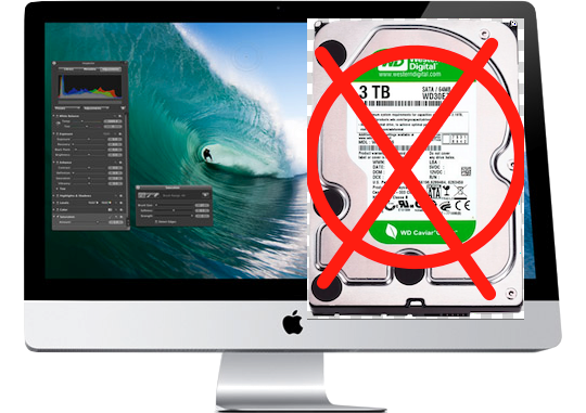 iMac with No 3TB hard drive.