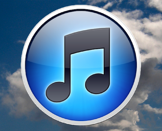 iTunes Logo in a Cloud Background