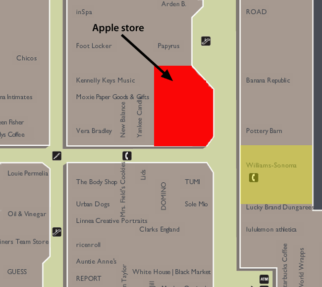 how to change apple store location