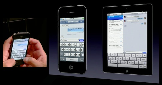 iMessage on screen demo