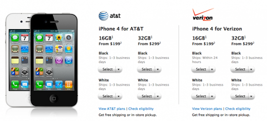 IPhone 4 ship times 625x284