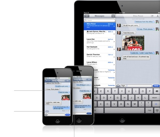 Enable iMessage syncing between iPhone, iPod touch, and iPad
