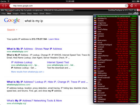 Covert Browser brings Tor browsing support to iPad