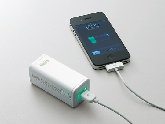 charge your iphone with this aa battery pack macgasm. Black Bedroom Furniture Sets. Home Design Ideas