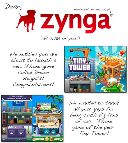 Zynga shamelessly rips off NimbleBits Tiny Tower