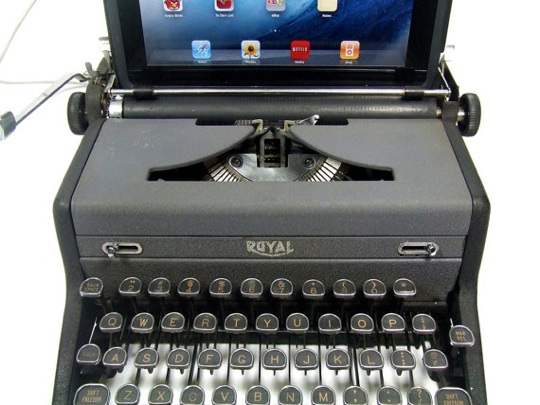 The future is here, and its called the iPad Typewriter