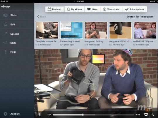 Vimeo updates iOS app, brings fullscreen video playback to