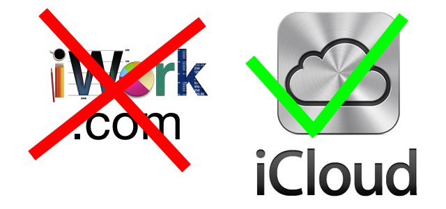 iWork.com to close down in favor of iCloud