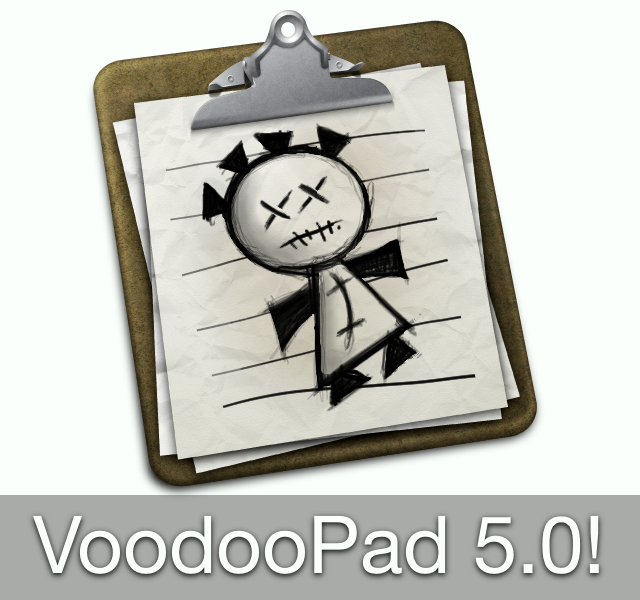 VoodooPad 5.0 Released With Full DropBox Syncing