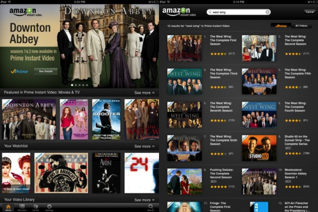 Amazon Instant Video For iPad Updated With Search Functionality