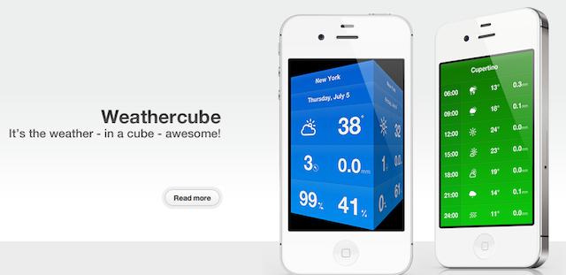 Weathercube Finally Heads Into Beta, Still As Sexy As Ever