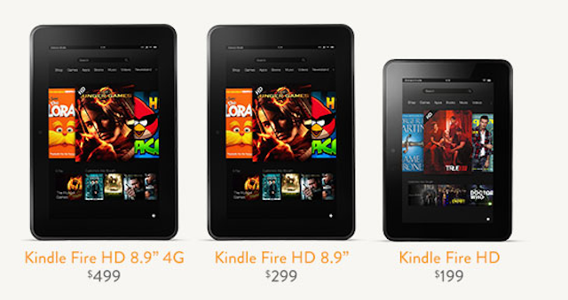 Amazon Introduces Two New Kindle Fires
