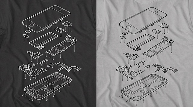 Want To Wear An Exploded iPhone 5? Check Out This Shirt