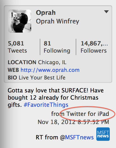 Funny: Oprah Loves The Surface So Much She Clearly Cant Stop Thinking About It