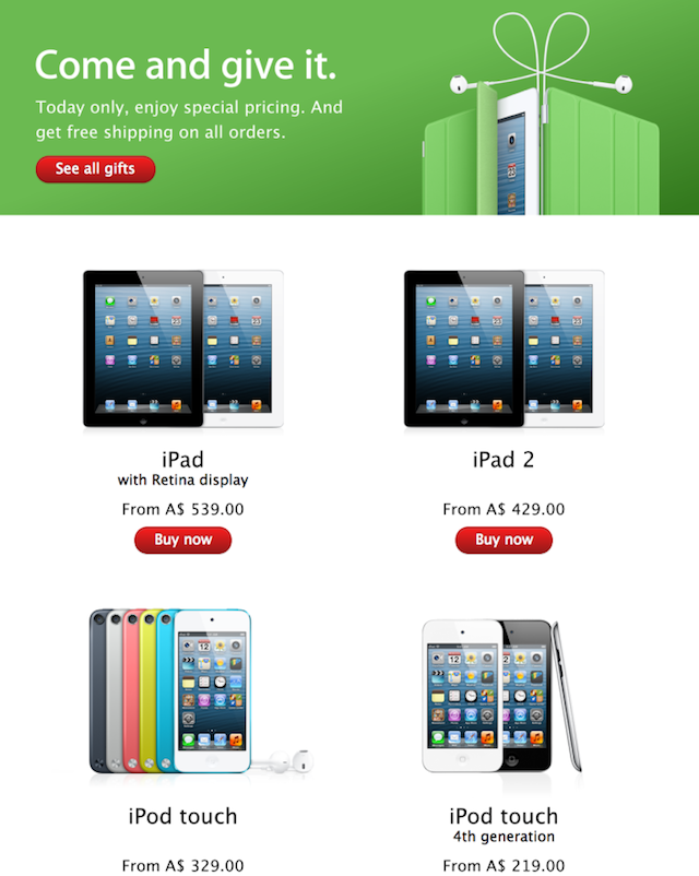 Apple S One Day Black Friday Sale Goes Live In Australia New Zealand