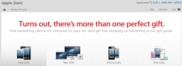 2012 Holiday Gift Guide Now Up On Apple\'s Website | Macgasm