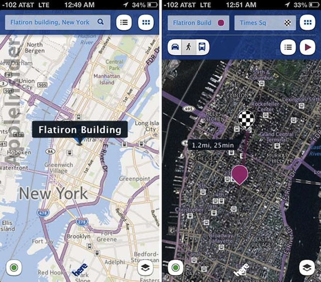 Nokias HERE Maps App Arrives In iOS App Store, Moves From No. 101 To No. 14 Within An Hour