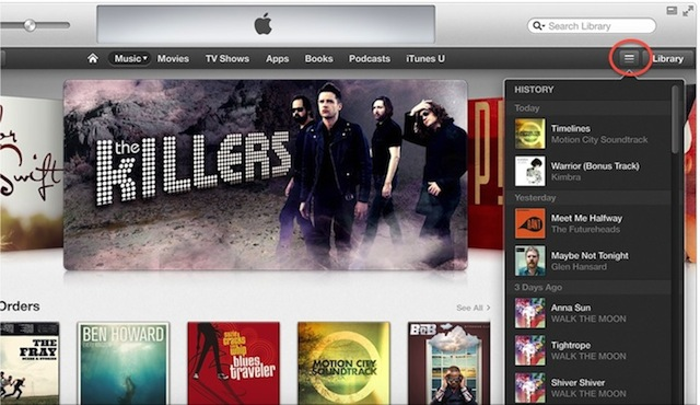 Tip: Viewing And Clearing History In iTunes 11