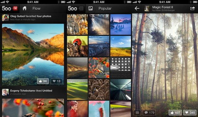 500px App Launches Beautiful iPhone App