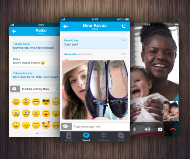 Skype For iOS Update Brings Microsoft Account Support, Emoticons, And More