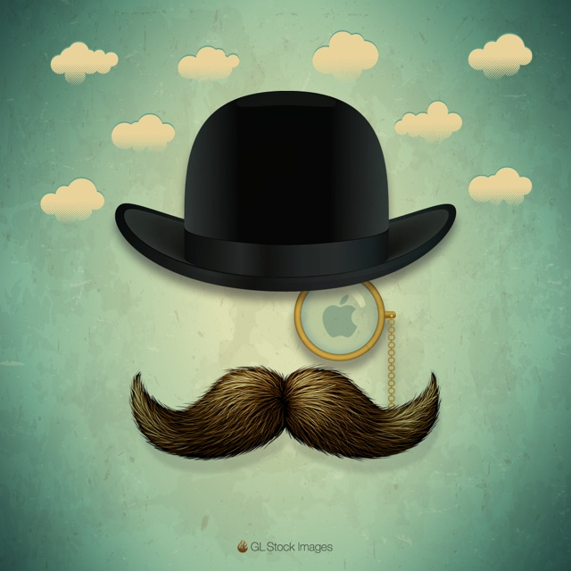 Celebrate The Rest Of Movember With This Moustacherific iPad Wallpaper