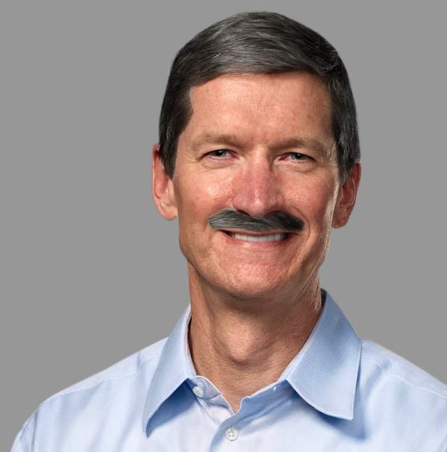 Funny: Tim Cook Participates In Movember