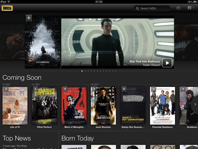 Amazons IMDb iPad App Gets Completely Redesigned