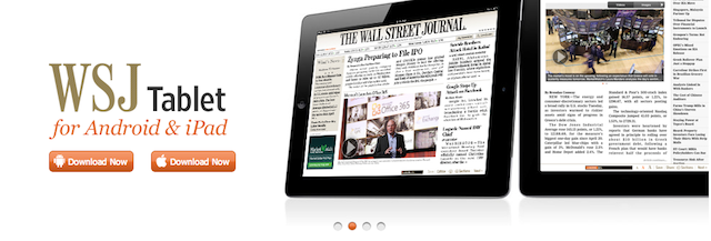Wall Street Journal Makes Its Way To iOS Newstand