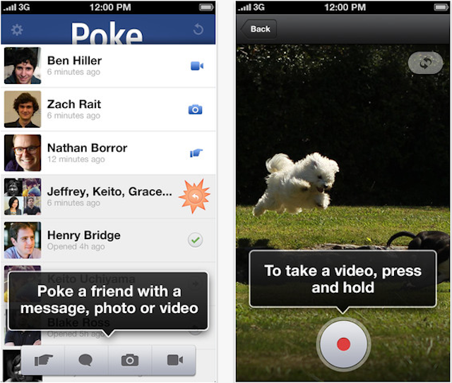Facebook Releases A New Take On SnapChat With Poke