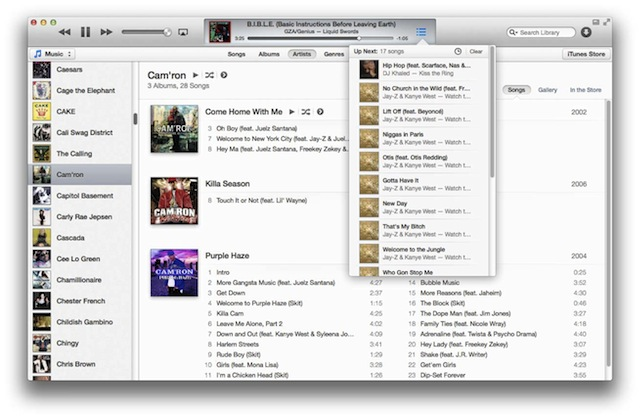 Tip: Easily Add Songs To iTunes 11s Up Next Feature
