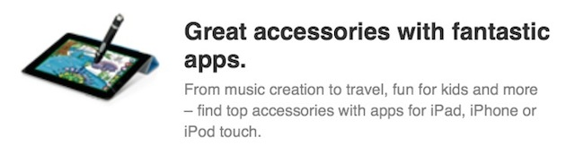 Apple Adds App Enabled Accessories Section To Online Store