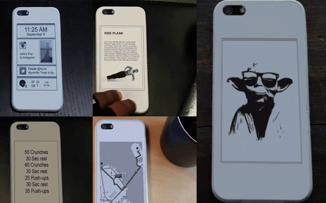 popSLATE, Giving Your iPhone 5 An E Ink Screen One Case At A Time