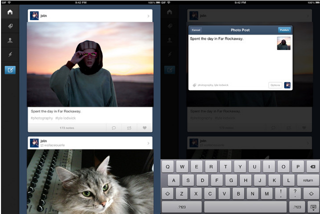 Tumblr for iPad