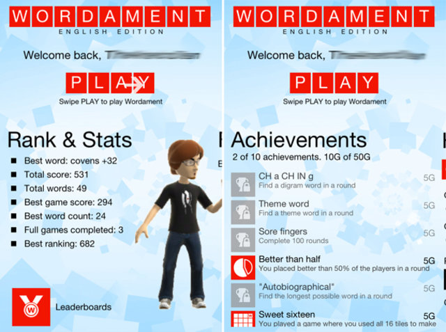 Xbox Live Achievements Come To iOS With Wordament