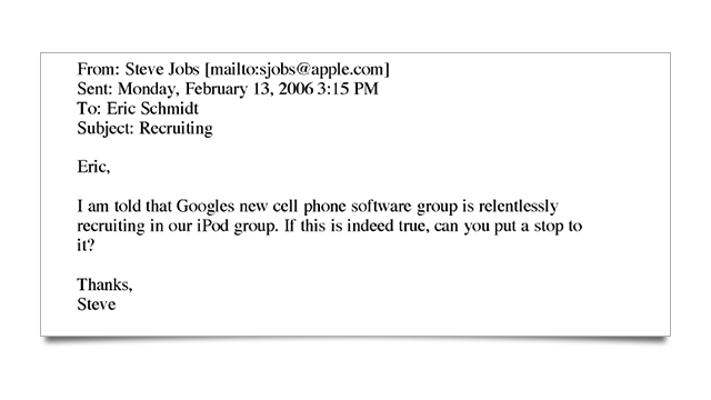 Old Emails Show Steve Jobs Threatening Palm With Patent Suit Over No Hire Policy