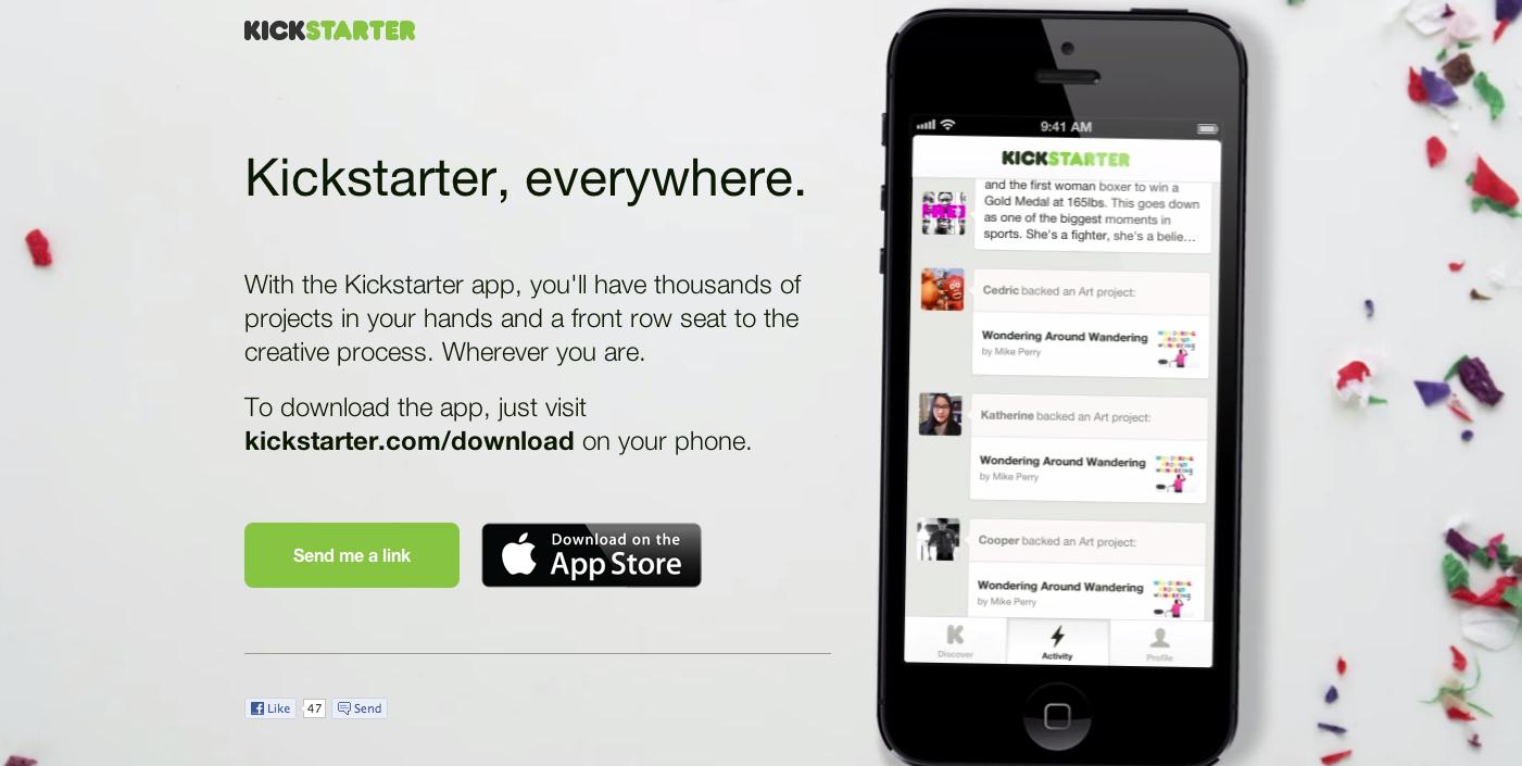 Kickstarter Landing Page