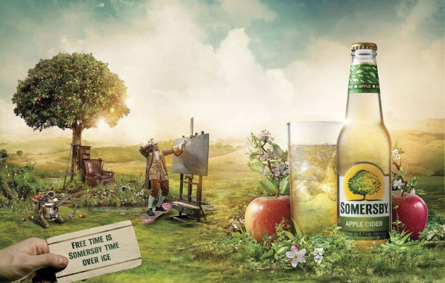 Funny Somersby Cider Gets Apple Esque Product Launch New