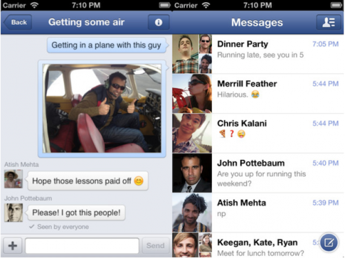 facebook how to search group chat